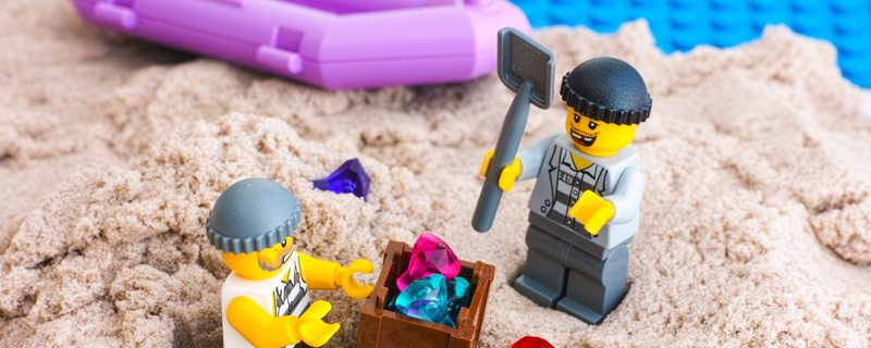 Try this simple physics experiment using LEGO Bricks and sand in your backyard