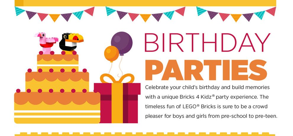 Birthday Parties Consist Of Creative LEGOR Based Games And Activities Led By A Bricks 4 Kidz Party Host Plus Galore To Keep The
